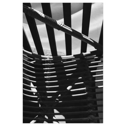 Black and White Chair Shadows Art Prints