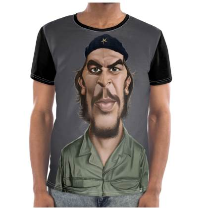 Che Guevara Celebrity Caricature Cut and Sew T Shirt