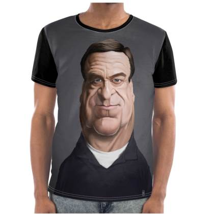 John Goodman Celebrity Caricature Cut and Sew T Shirt