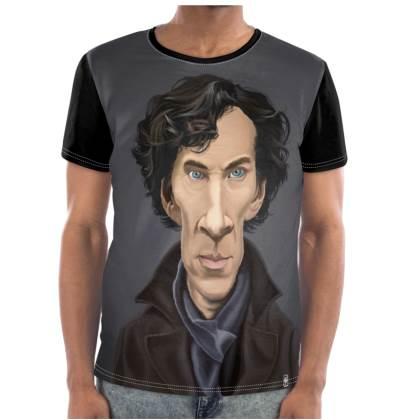 Benedict Cumberbatch Celebrity Caricature Cut and Sew T Shirt