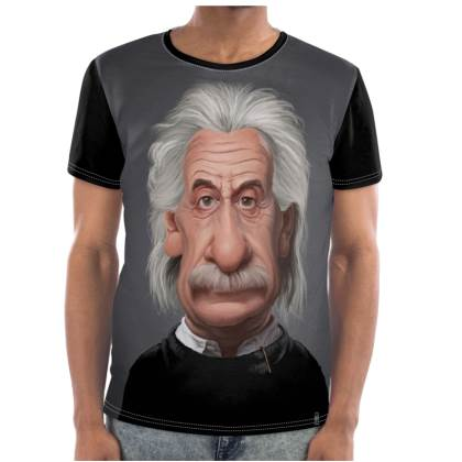 Albert Einstein Celebrity Caricature Cut and Sew T Shirt