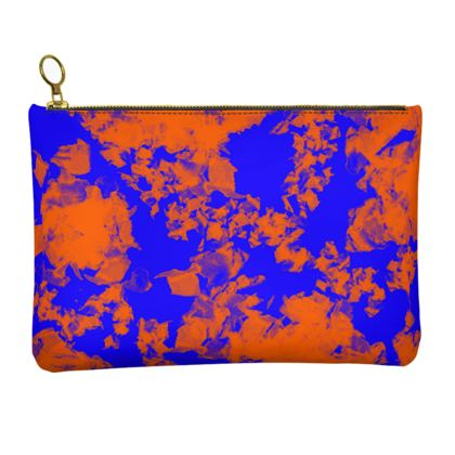 Leather Clutch Bag - Sky At Sunset