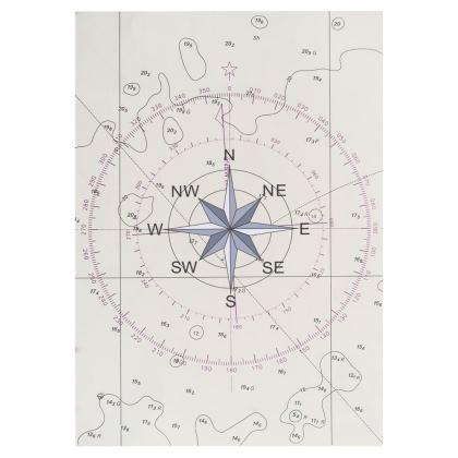 Towel compass point design