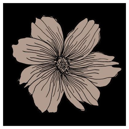 Soft Beige Floral Print Coasters