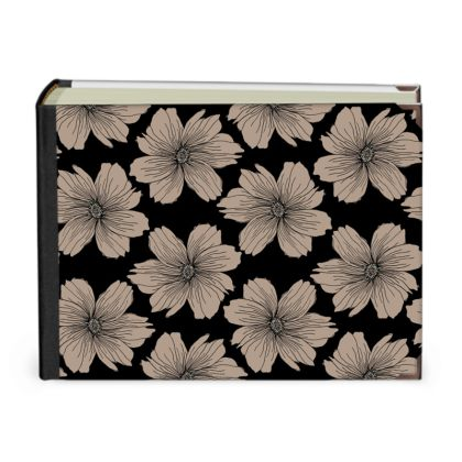 Soft Beige Floral Print Photo Album