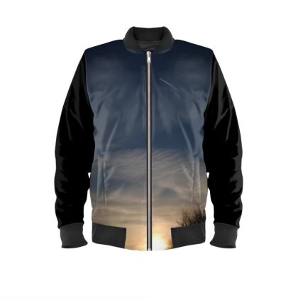 Mens Bomber Jacket - Low Sunset