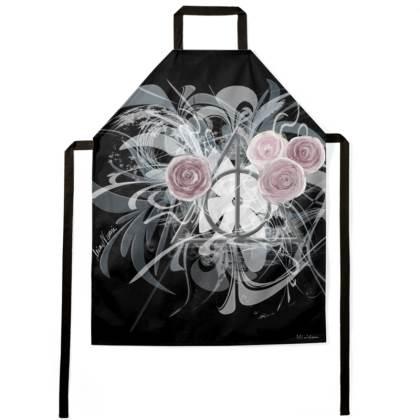 Apron - Förkläde - Flower Triangle Black