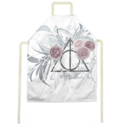 Apron - Förkläde - Flower Triangle White