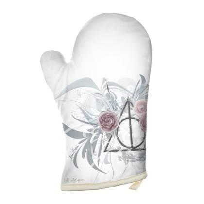 Oven Glove - Grytvante - Flower Triangle White