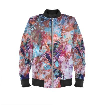 Ladies Bomber Jacket Watercolor Texture 13