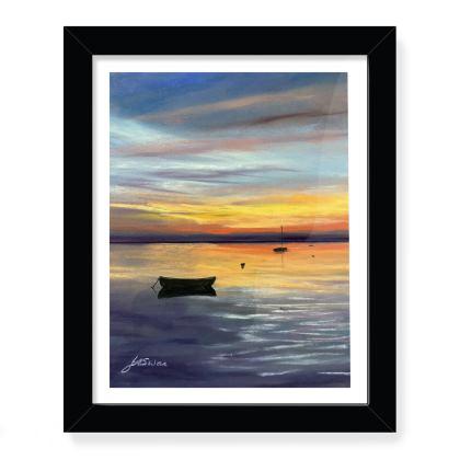 Shimmer Sunset - framed art print