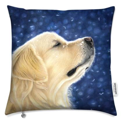 Golden Retriever Cushion - Magic Moment