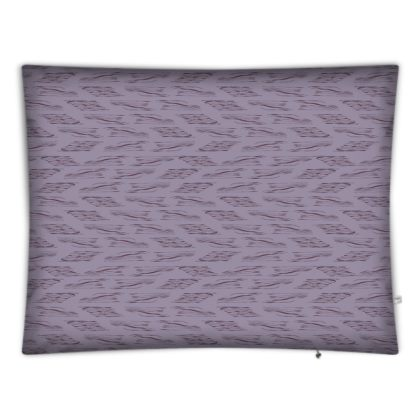 Lilac Stripe Rectangular Floor Cushion