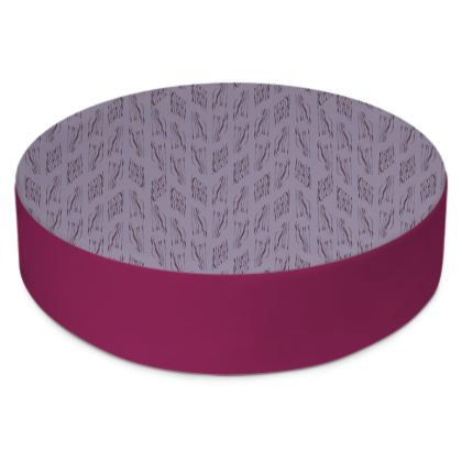 Lilac Stripe Round Floor Cushion