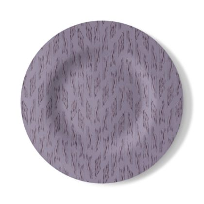 Lilac Stripe Decorative Plate