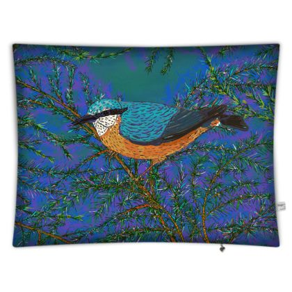 Nuthatch and Fir Rectangular Floor Cushion