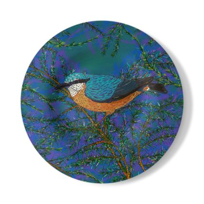 Nuthatch and Fir Decorative Plate