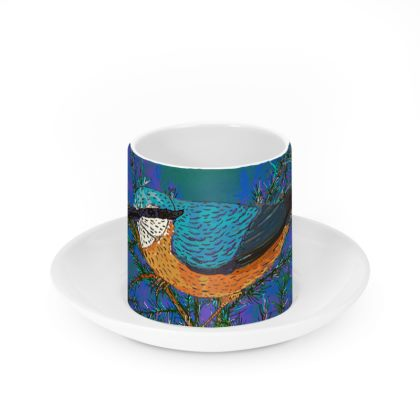 Nuthatch and Fir Cup and Saucer
