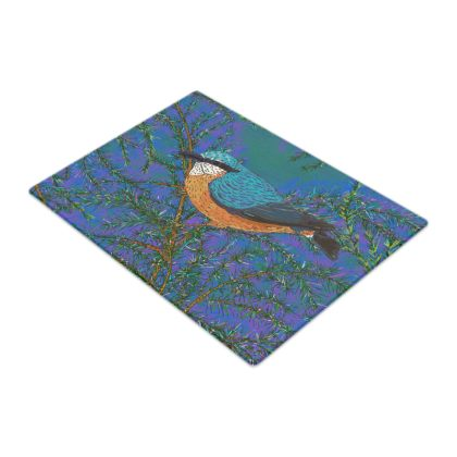 Nuthatch and Fir Glass Chopping Board