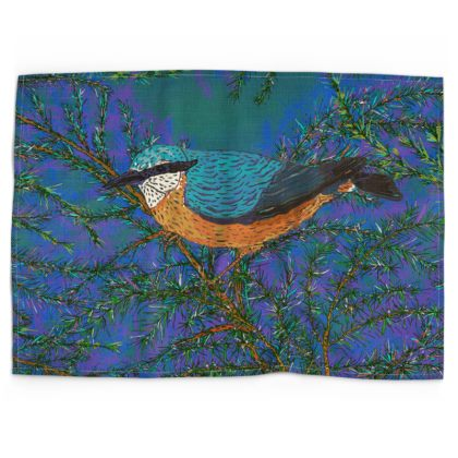 Nuthatch and Fir Tea Towel