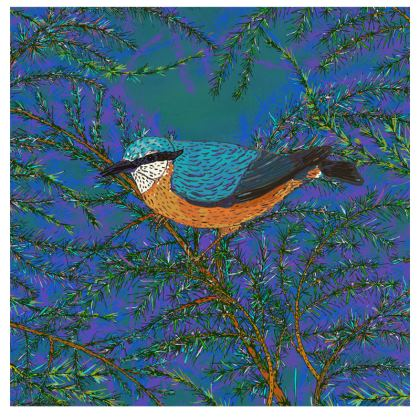 Nuthatch and Fir Fabric Placemat