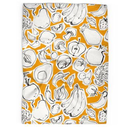 Tangerine Tea Towel