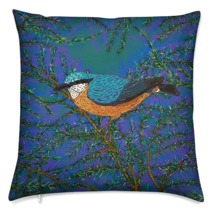 Nuthatch and Fir Cushion