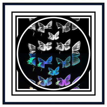 Borsa moderna elegante linea farfalle