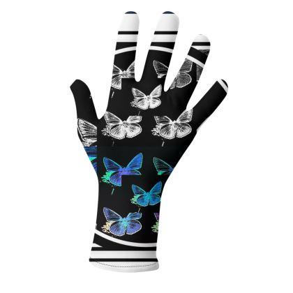 guanti dalla linea farfalle