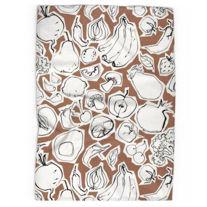 Mushrooms tea towel