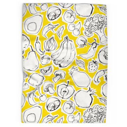 Banana yellow tea towel