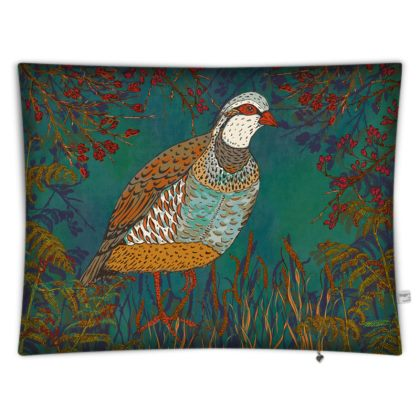 Partridge in the Hedgerow Rectangular Floor Cushion