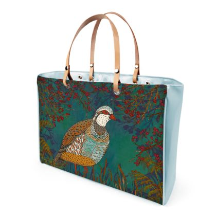 Partridge in the Hedgerow Handbag