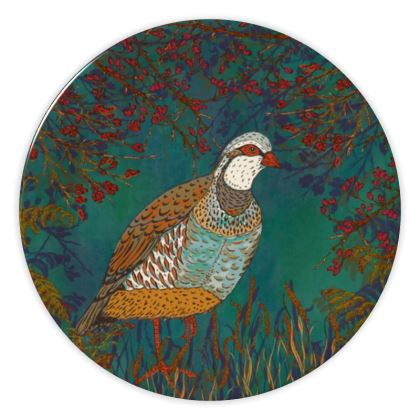 Partridge in the Hedgerow China Plate