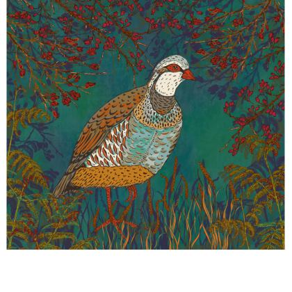 Partridge in the Hedgerow Fabric Placemat
