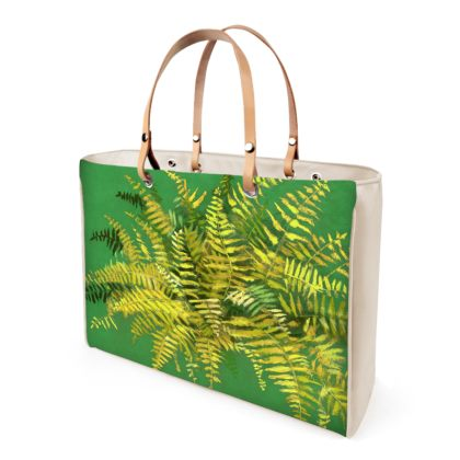 Fern, Green & Yellow, Floral Art Handbags