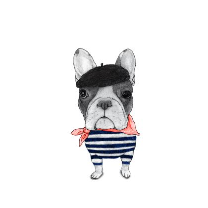 French Bulldog Cut and Sew T Shirt