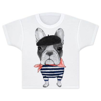 French Bulldog Kids T Shirts
