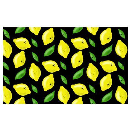 'Just Lemon Know' Zip Top Handbag