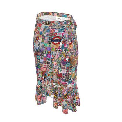 Granny Square Madness Flounce Skirt