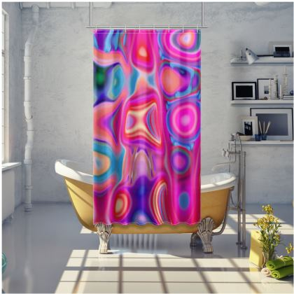 Shower Curtain Fashion Circle 1