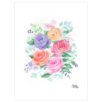 Summer Florals Art Prints
