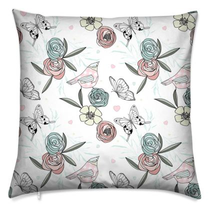 Pretty Wildflower Cushion