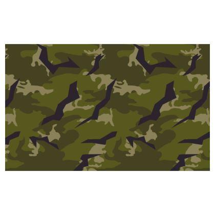 Face Mask Double Pack In Woodland / Desert Hybrid Splinter Camo
