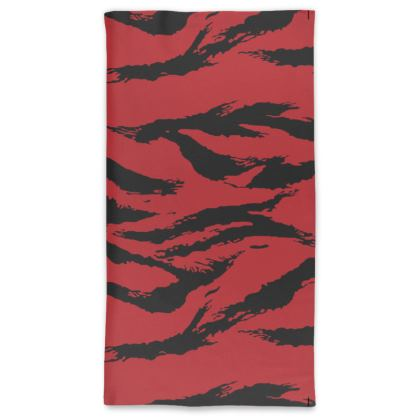 Neck Tube Scarf in Red Tiger Camo