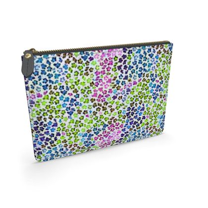 Leopard Skin Multicoloured Collection Leather Pouch