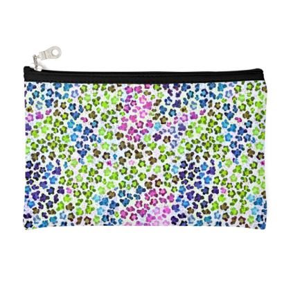Leopard Skin Multicoloured Collection Zip Top Pouch