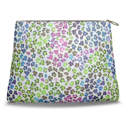 Leopard Skin Multicoloured Collection Clutch Bag