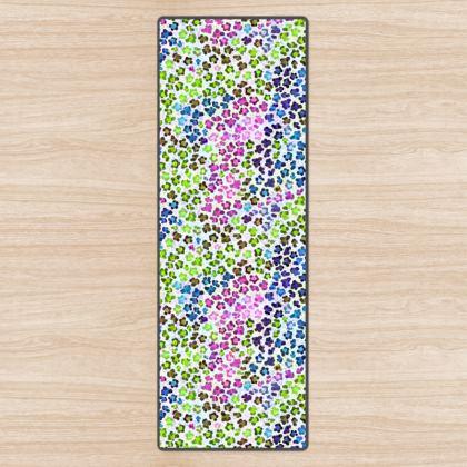Leopard Skin Multicoloured Collection Yoga Mat