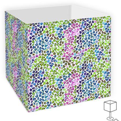 Leopard Skin Multicoloured Collection Square Lamp Shade
